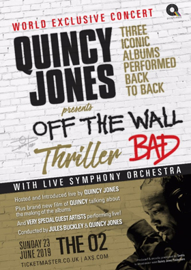 Quincy Jones Will Perform Off The Wall, Thriller & Bad at The O2