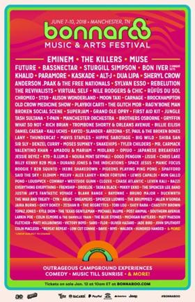 Eminem, The Killers Among Bonnaroo 2018 Lineup