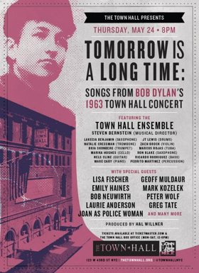 TOWN HALL ENSEMBLE Adds Names to TOMORROW IS A LONG TIME: Songs from Bob Dylan's 1963 Town Hall Concert