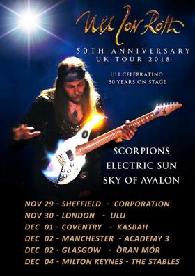 Uli Jon Roth to Celebrate 50th Anniversary with November-December 2018 UK Tour