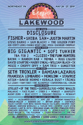 Elements Lakewood Camping Festival Lineup Announced For Memorial Day Weekend 2019