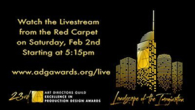 Watch the Art Directors Guild Awards Livestream from the Red Carpet