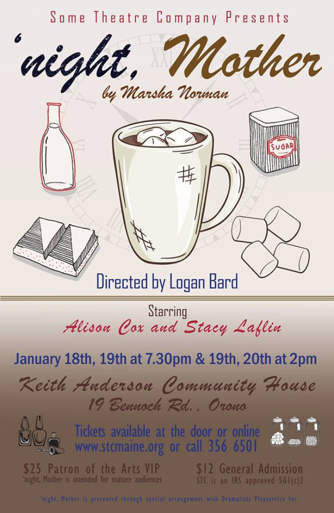 BWW Feature: NIGHT, MOTHER SET TO HIT THE STAGE IN ORONO at Some Theatre Company