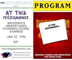 AT THIS PERFORMANCE... Celebrates 900th Performer at The Green Room 42