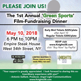 Empire Steak House NY Hosts The 1st Annual 'Green Sports' Film-Fundraiser Dinner and Sports Auction 5/10