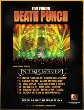 Five Finger Death Punch Announces Select July U.S. Headlining Shows