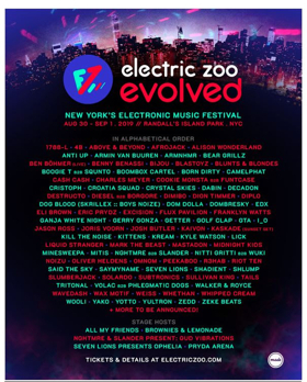 Made Event Release Lineup for ELECTRIC ZOO: EVOLVED