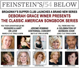 Luker, Baldwin, Ziemba & More Join CLASSIC AMERICAN SONGBOOK SERIES at Feinstein's/54 Below
