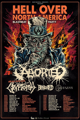 Aborted Announces 'Hell Over North America' Tour