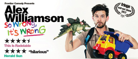 Alex Williamson Adds Extra Adelaide Fringe and Sydney Comedy Festival Shows and Announces Australian Tour
