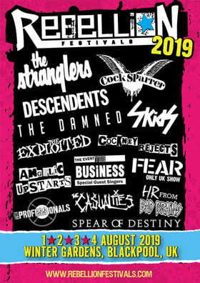 Rebellion Festival 2019 Is coming August 1st - 4th At The Winter Gardens, Blackpool