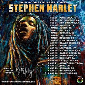 Stephen 'Ragga' Marley Announces 2019 Acoustic Tour