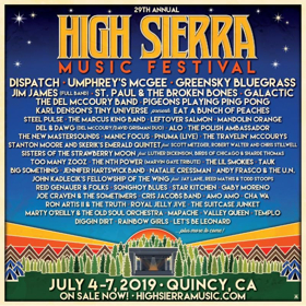 High Sierra Music Festival Announces Dispatch, Steel Pulse, Tauk, and More