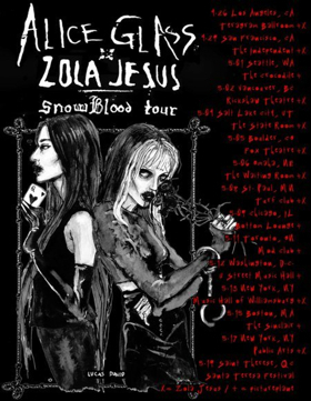 SNOWBLOOD Tour to Feature Alice Glass and Zola Jesus Spring 2018