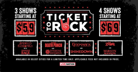 Get Your TICKET TO ROCK This Summer with Some of the Hottest Tours Bundled Together via Live Nation