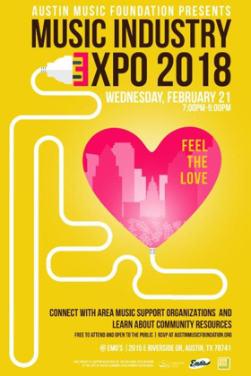 Join The Austin Music Foundation For The Return Of The 'Feel The Love' Music Industry Expo