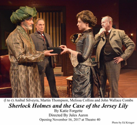 Review: The Renowned Detective Returns in Style to Theatre 40 in SHERLOCK HOLMES AND THE CASE OF THE JERSEY LILY