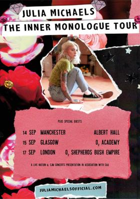 Julia Michaels Announces U.K. Shows For September
