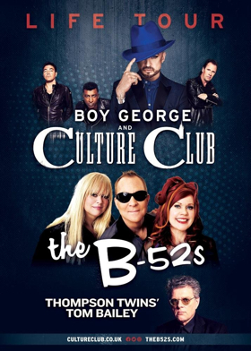 The Life Tour: Starring Boy George & Culture Club and The B-52s with Thompson Twins' Tom Bailey Kicks Off This Summer