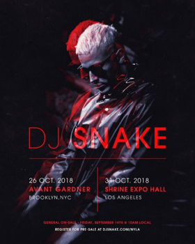 DJ SNAKE Announces Rare U.S. Shows In NYC & LA This Halloween Season