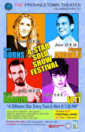 For Month of June, the Provincetown Theater Debuts 4-Star Solo Show Festival