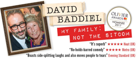 David Baddiel Brings His Olivier-Nominated Show MY FAMILY: NOT THE SITCOM