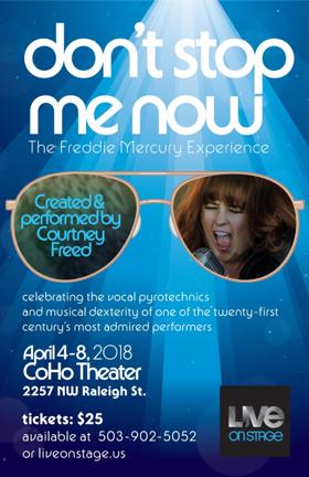Opening Tonight! DON'T STOP ME NOW, a Jazz Cabaret Take on Freddie Mercury