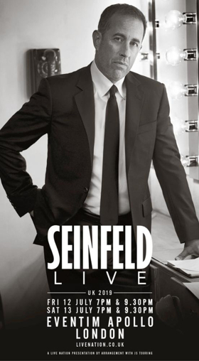 Jerry Seinfeld Announces First U.K. Shows In 8 Years At Eventim Apollo London