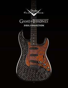 HBO and Fender Custom Shop Announce GAME OF THRONES Collaboration