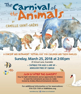 Hoff-Barthelson Music School Announces Concert for Children CARNIVAL OF THE ANIMALS