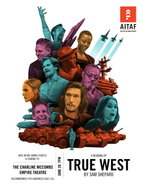 Arts In The Armed Forces To Perform TRUE WEST In Military City USA