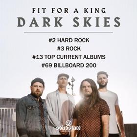 Fit For A King's New Album Dark Skies Debuts #2 on Billboard Hard Rock Charts