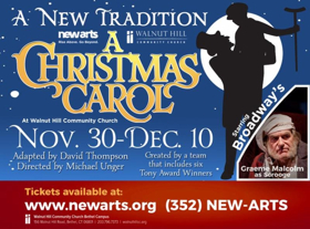 NewArts' A CHRISTMAS CAROL Features Broadway's Graeme Malcolm and 112 Newtown-Area Locals