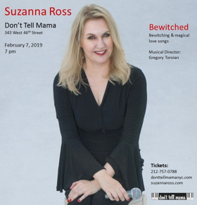 Suzanna Ross Brings Bewitching Love Songs to Don't Tell Mama