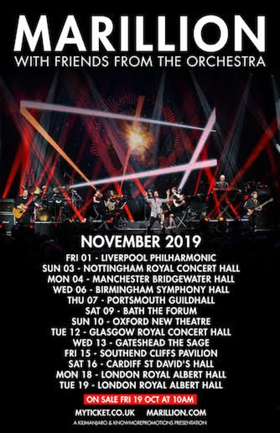 Marillion Announce 13-Date UK Tour for 2019