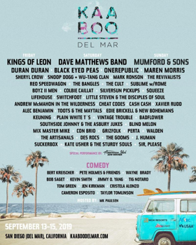 KAABOO Del Mar Announces 2019 Lineup, Featuring Kings of Leon and Mumford & Sons