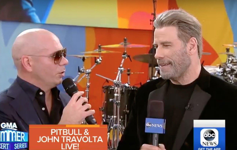 video john travolta and pitbull chat their upcoming film