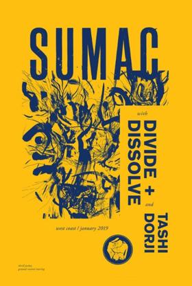 Sumac Announces U.S. West Coast Tour In January 2019
