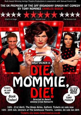 Dale Vicker & Alex Reid Announced for UK Premiere of DIE, MOMMIE, DIE! at The Kings Arms, Salford