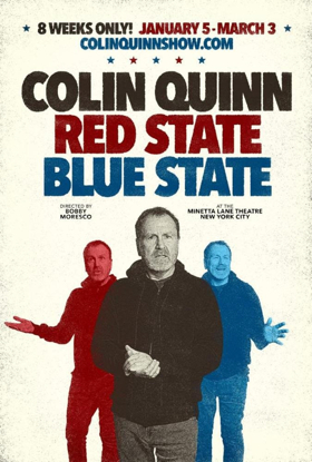 COLIN QUINN: RED STATE BLUE STATE to Play at The Minetta Lane Theatre