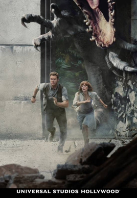 Chris Pratt, Bryce Dallas Howard and BD Wong to Reprise Roles for JURASSIC WORLD - THE RIDE
