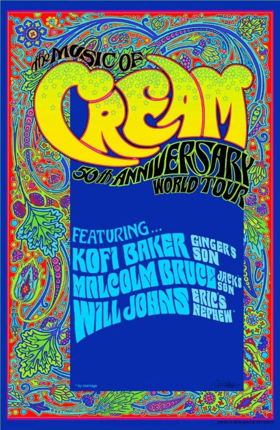 THE MUSIC OF CREAM: 50th ANNIVERSARY WORLD TOUR To Tour Across North America This Fall