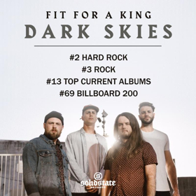 Fit For A King New Album DARK SKIES Debuts #2 on Billboard Hard Rock Charts