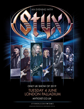 Styx Announce Exclusive UK Show