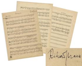 Richard Strauss' Handwritten Manuscript For 'Die Schweigsame Frau' To Be Auctioned