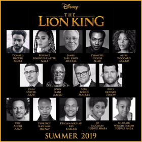 Beyonce and More Additional Casting Revealed in New Preview Poster for THE LION KING
