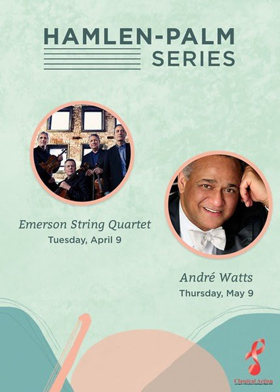 Tickets Now on Sale for Emerson String Quartet and André Watts