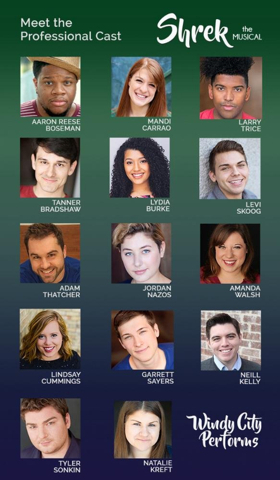 Windy City Performs Announces Cast Of SHREK THE MUSICAL