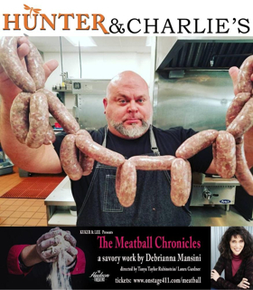 Chef Hunter of Hunter & Charlie's - Teams Up With Actress Debrianna Mansini at THE MEATBALL CHRONICLES