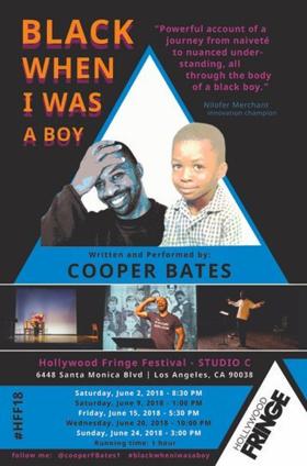 BLACK WHEN I WAS A BOY Premieres at Hollywood Fringe